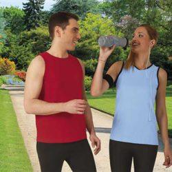 Sportovní bavlněná trička bez rukávů
