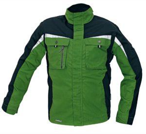 Montérková bunda s reflexními doplňky