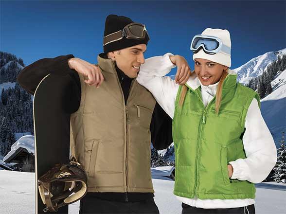 zimní sportovní vesty