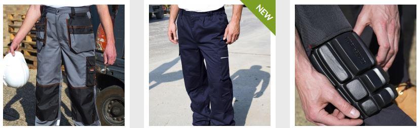 Kalhoty pracovní a montérky s možností potisku