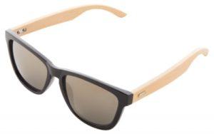 Plastové sluneční brýle s nožičkami z bambusu a metalickými čočkami. S ochranou UV 400.