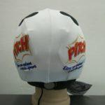 Reklamní lyžařské potahy na helmy s vlastním potiskem