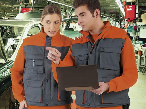Reflexní vesty a pracovní vesty