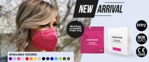 Moderní barevné respirátory proti virům